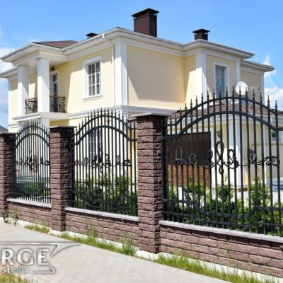 Кованый забор №001 от 240 руб. м. кв.