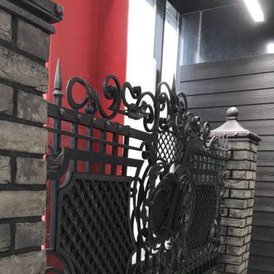 Кованый забор №010