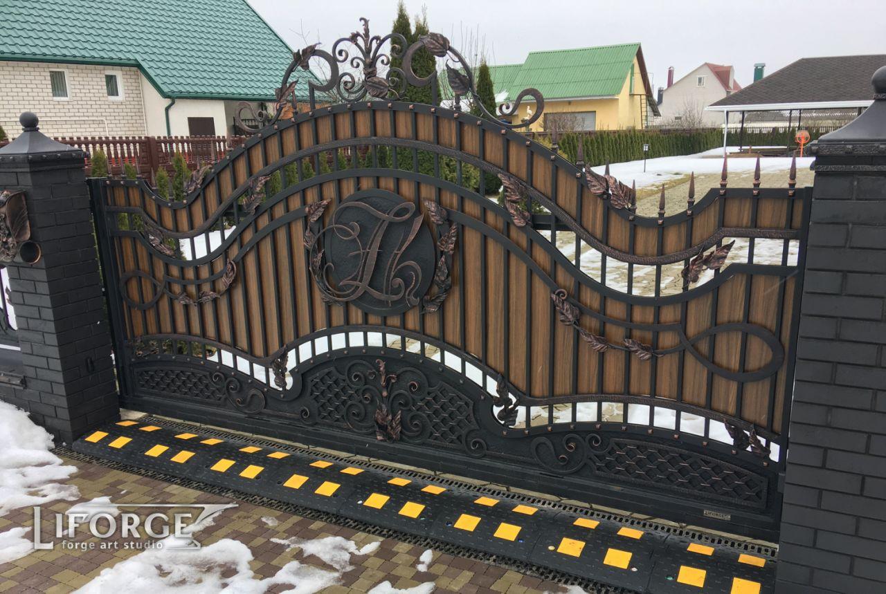 Откатные ворота №001 800 руб. кв. м.