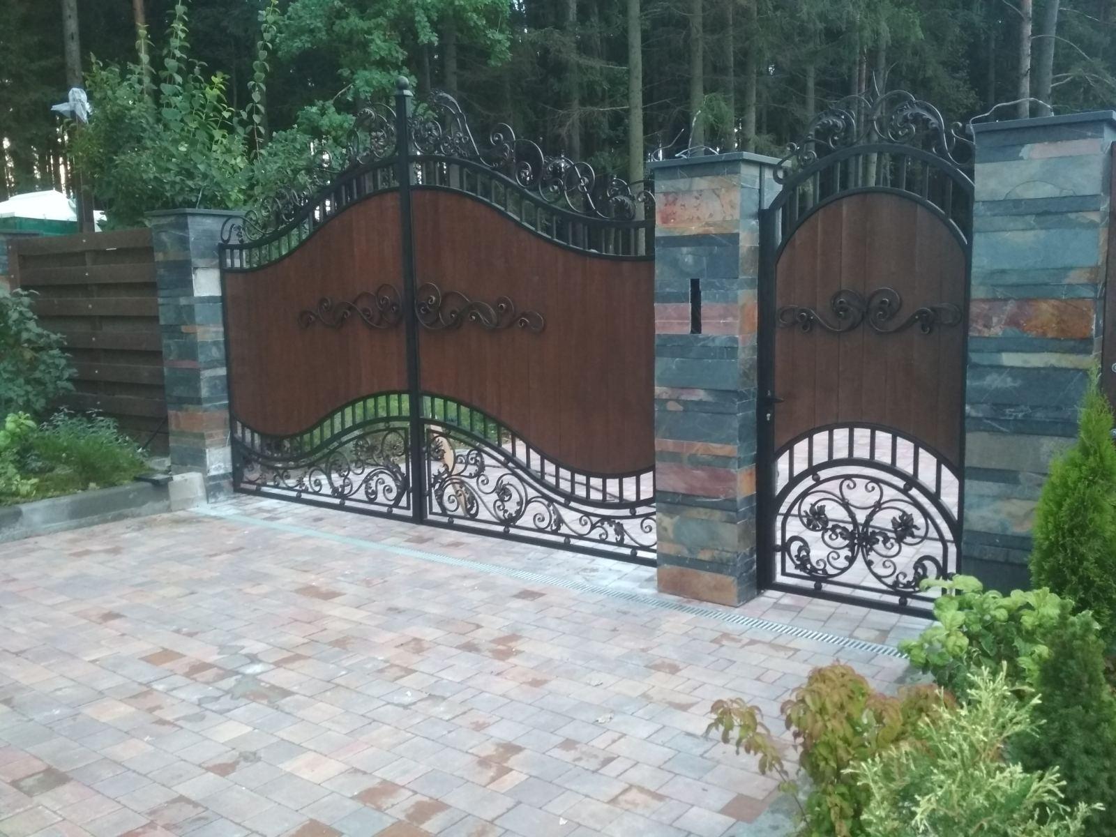 Кованые ворота №32 630 руб. кв. м.