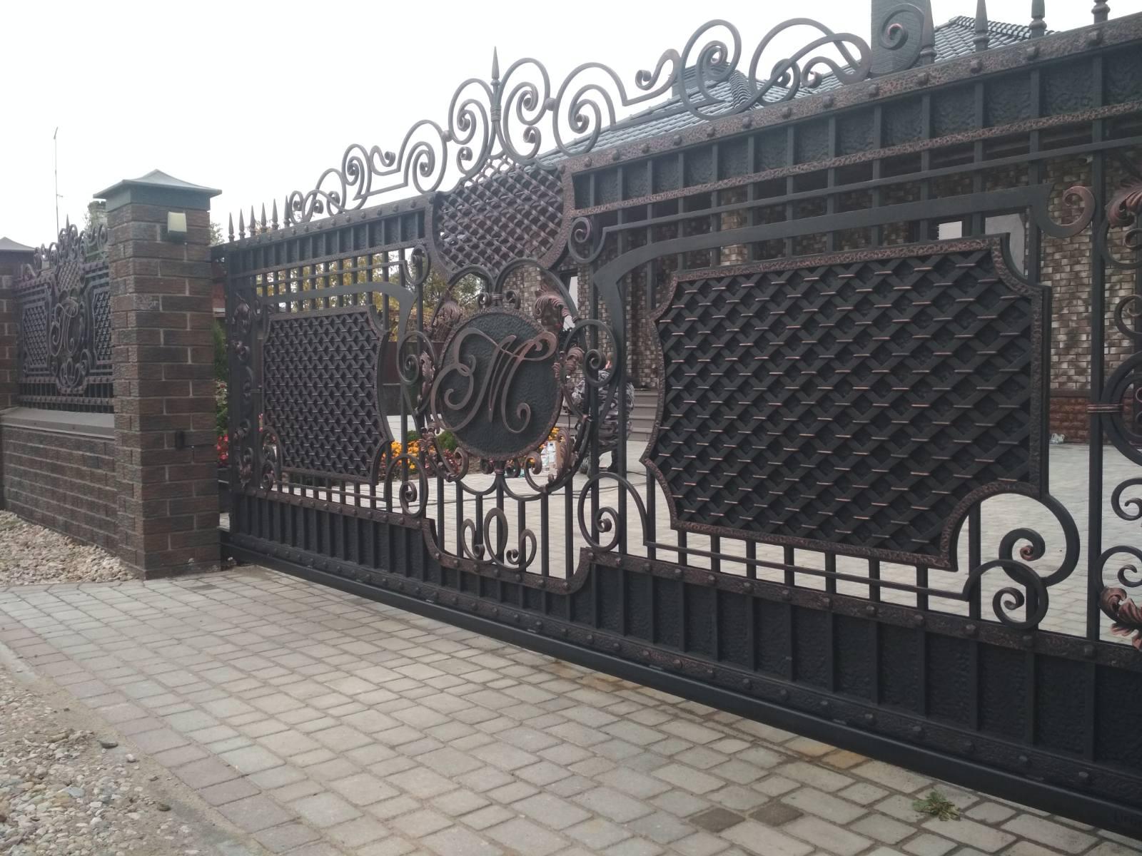Кованые ворота №11 1030 руб. кв. м.