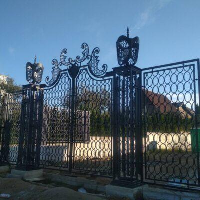 Кованые ворота №23 630 руб. кв. м.