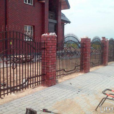 Кованый забор №017