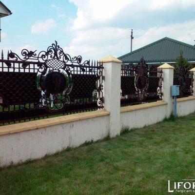 Кованый забор №011