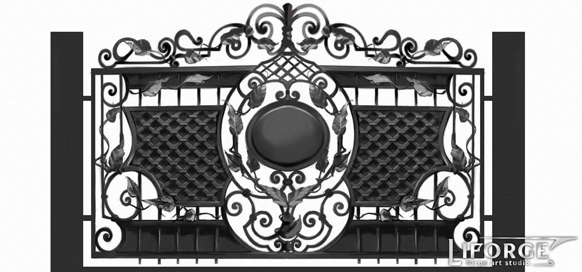 Кованый забор №032