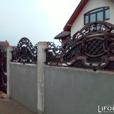 Кованый забор №008