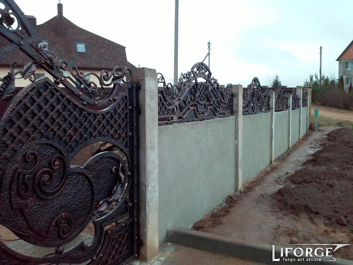 Кованый забор №007