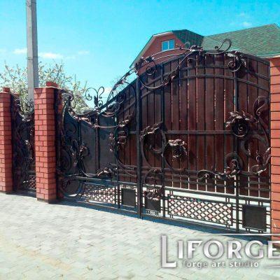 Откатные ворота №002 735 руб. кв. м.