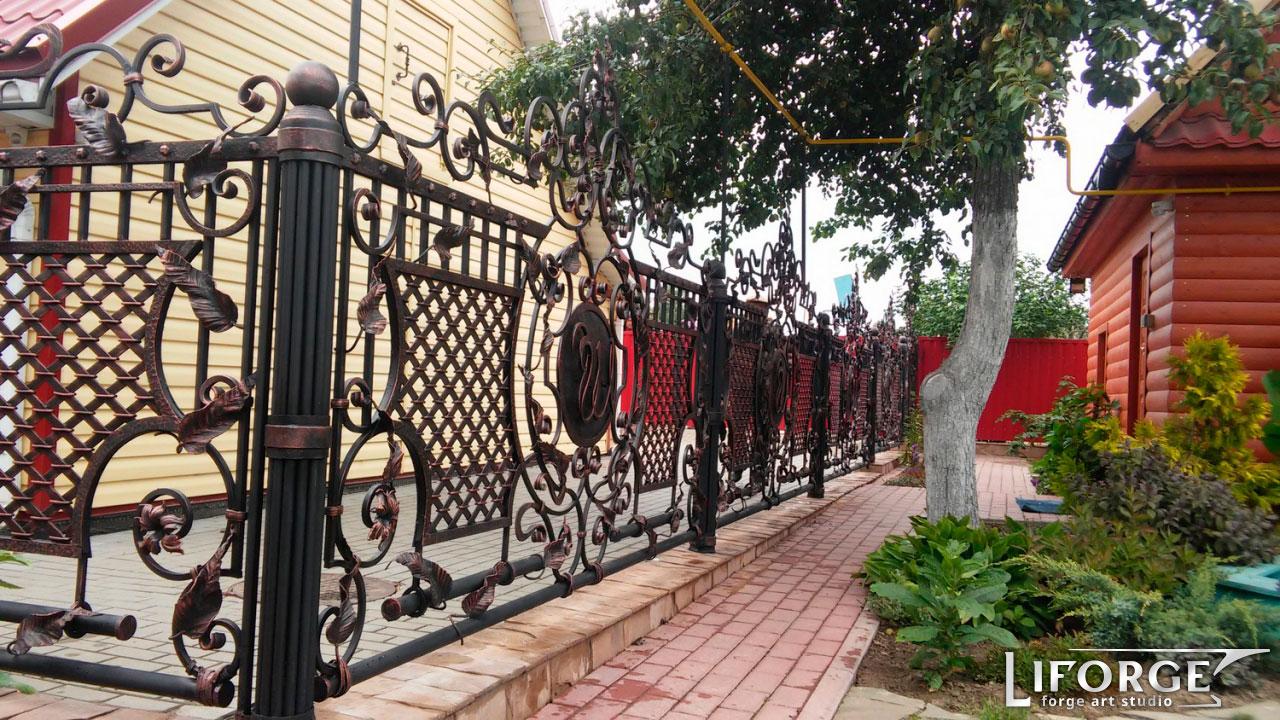 Кованый забор №012