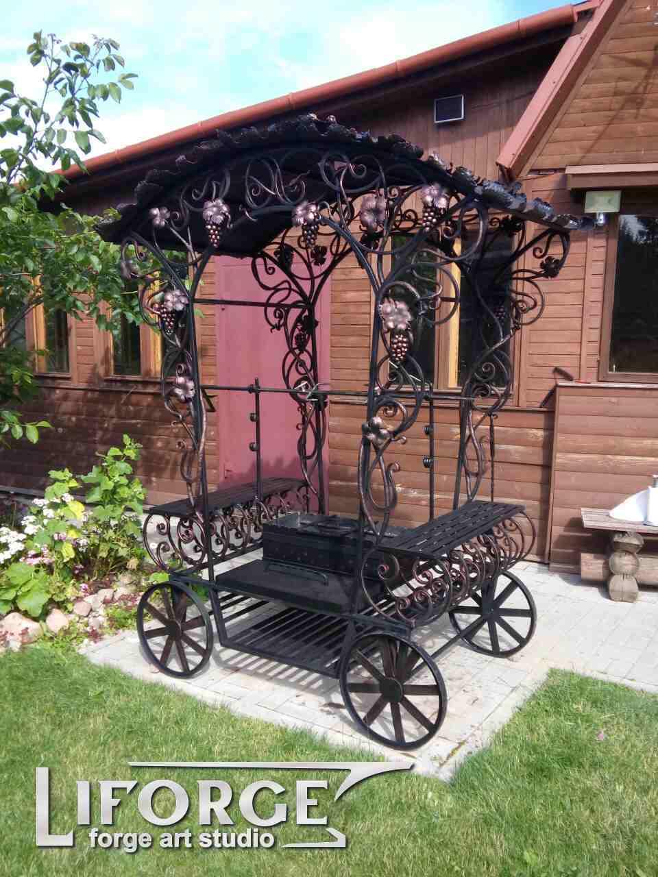 Кованая садовая мебель №001 от 2400 руб.