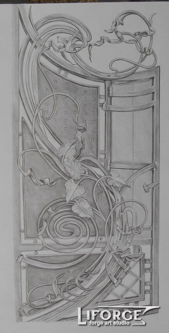 Калитка кованая №14 735 руб. кв. м.