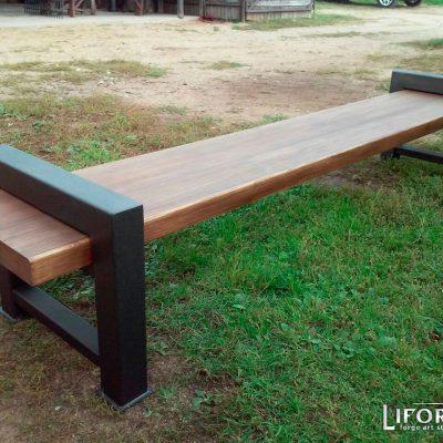 Кованая садовая скамейка №004 от 400 руб.