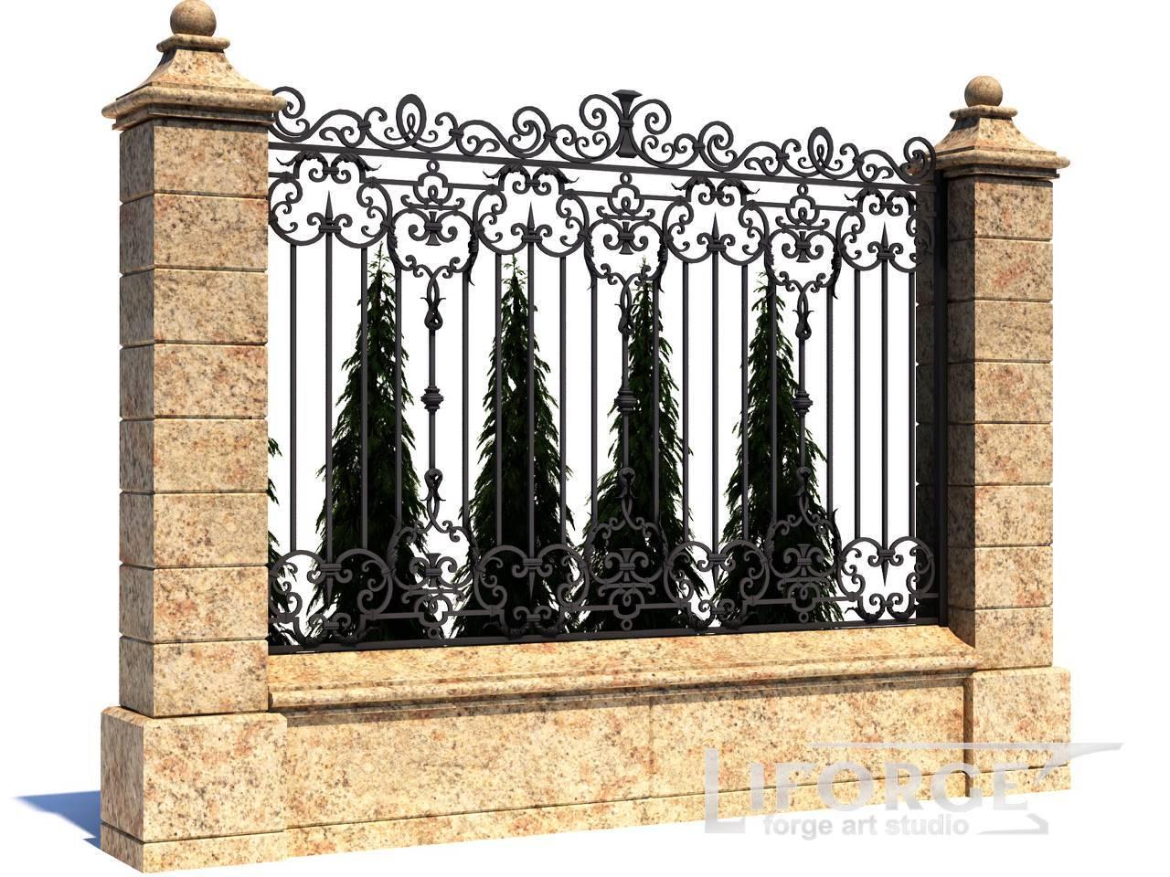 Кованый забор №014