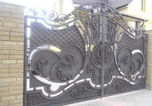 Распашные кованые ворота №007 1050 руб. кв. м.