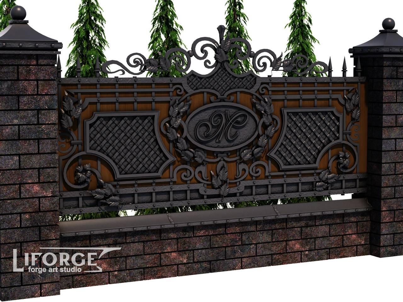 Кованый забор №024