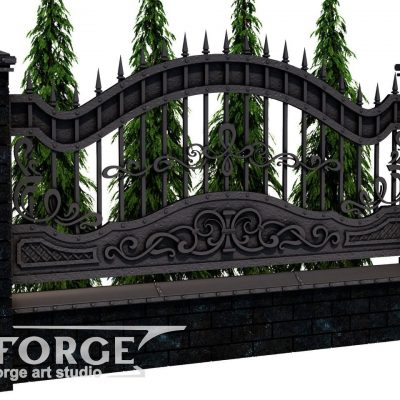 Кованый забор №026