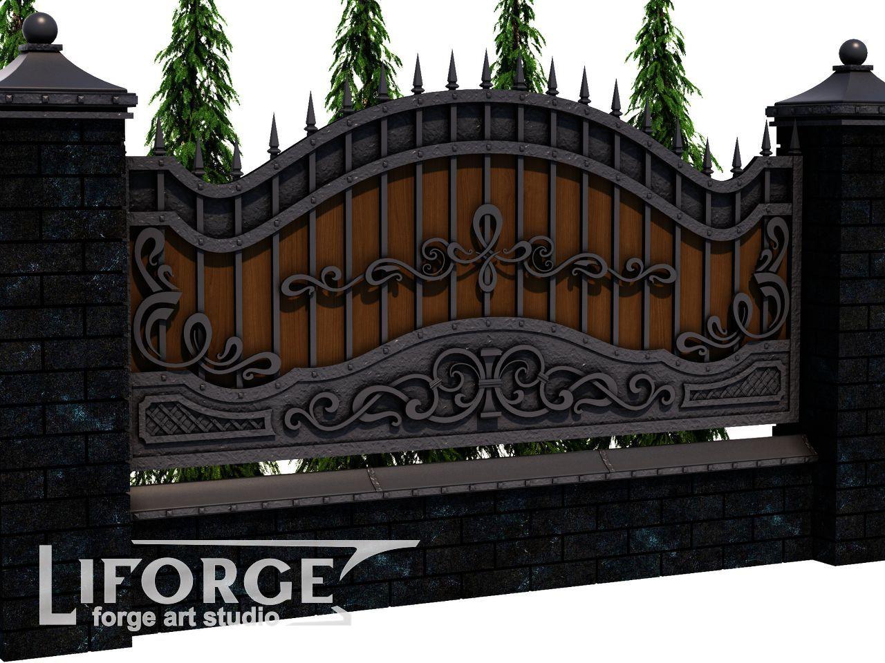 Кованый забор №027