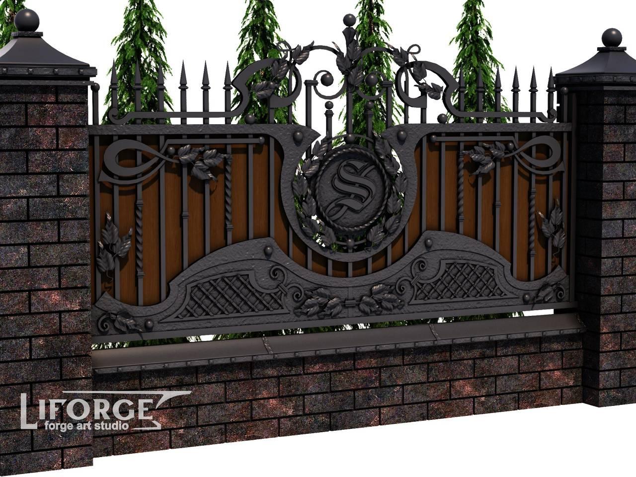 Кованый забор №021