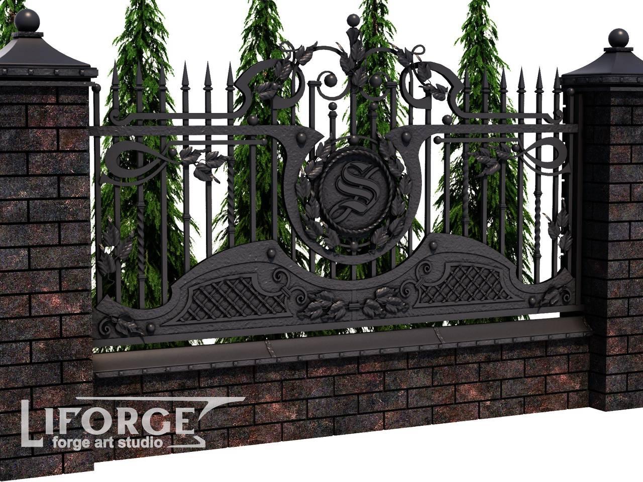 Кованый забор №028