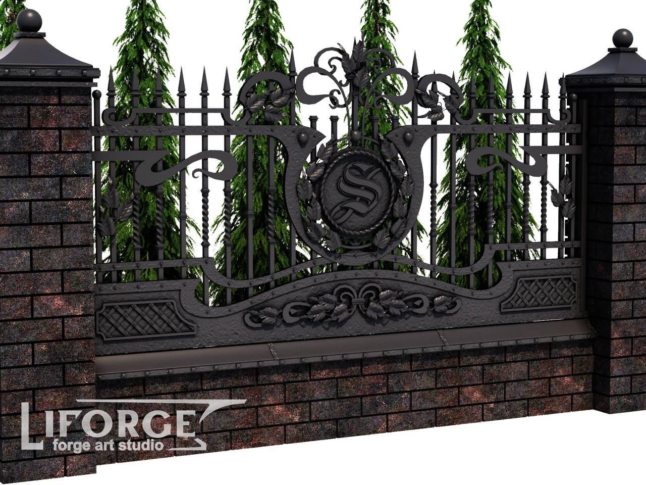 Кованый забор №020