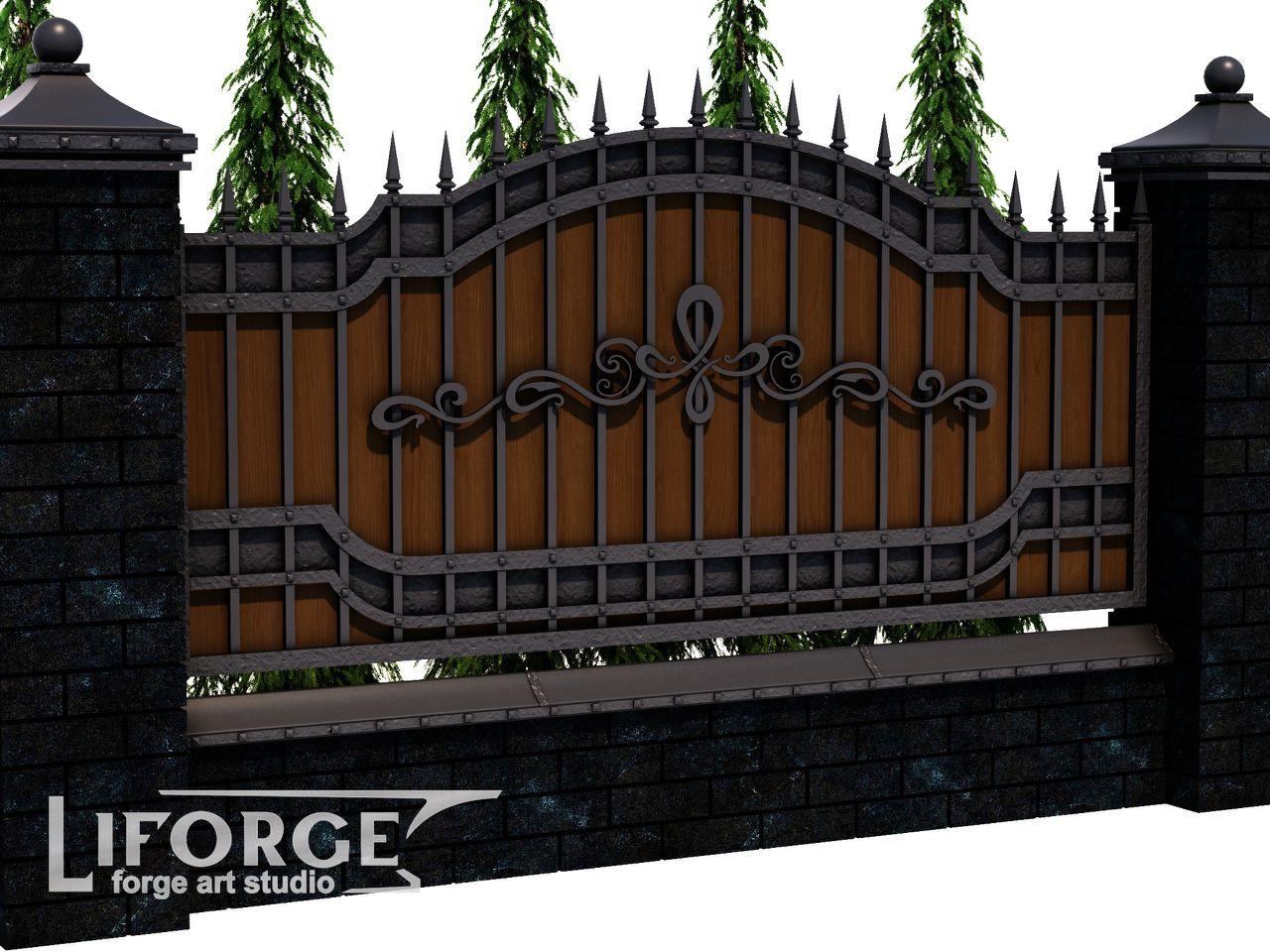 Кованый забор №023