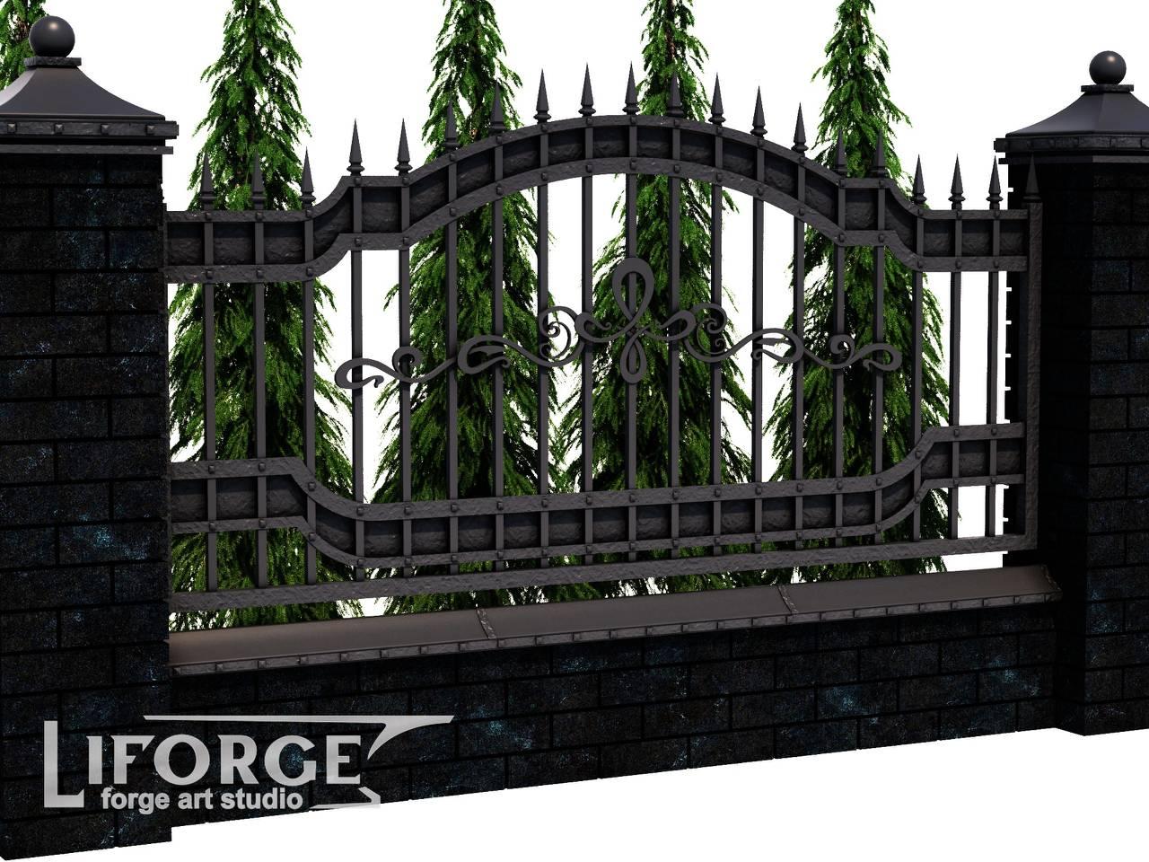Кованый забор №022