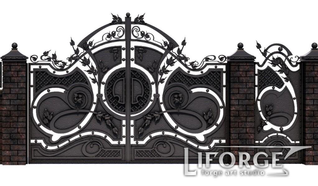 Кованые ворота №31