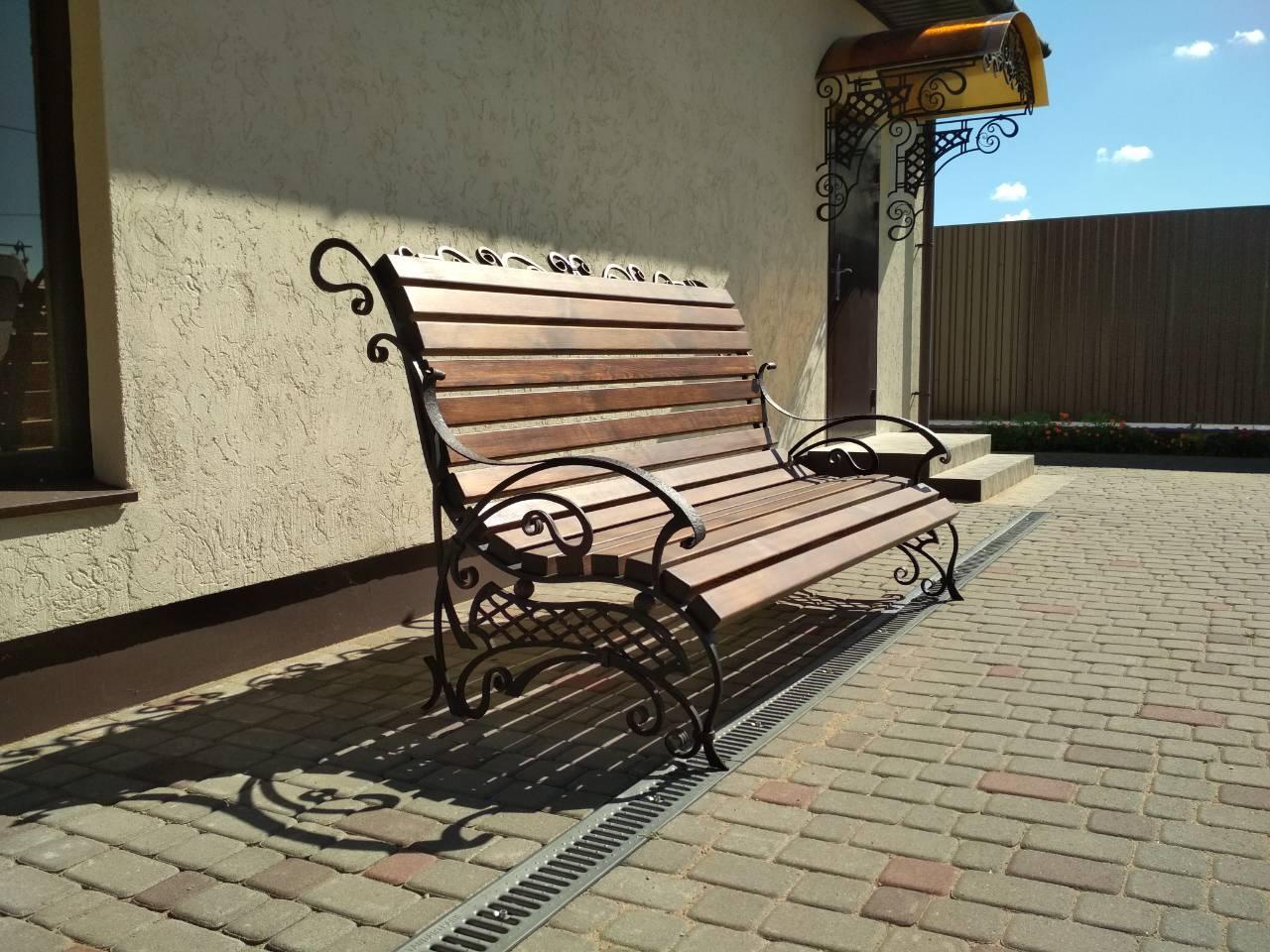 Кованая садовая скамейка №005 от 1000 руб.
